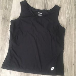 Prince active tank top dri fit Tennis high neck